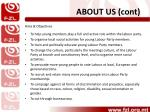 about us cont
