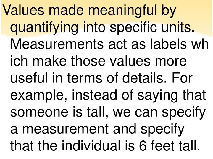 the use of measurements in daily Measurement is an integral part of modern science as well as of engineering, commerce, and daily life measurement is often considered a hallmark of the scientific enterprise and a privileged source of knowledge relative to qualitative modes of inquiry [.