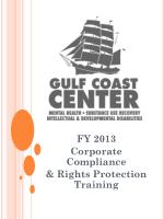 fy 2013 corporate compliance rights protection training