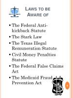 laws to be aware of