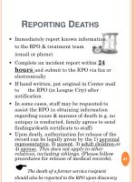 reporting deaths