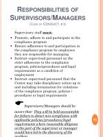 responsibilities of supervisors managers code of conduct 3