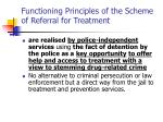 functioning principles of the scheme of referral for treatment