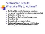 sustainable results what are we to achieve