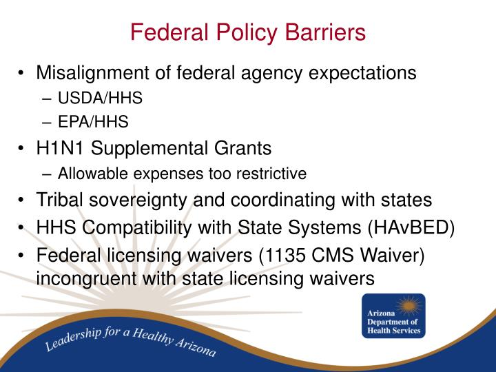 Misalignment of federal agency expectations