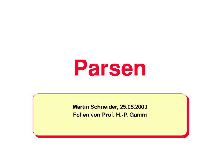 parsen