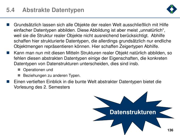 5.4	Abstrakte Datentypen