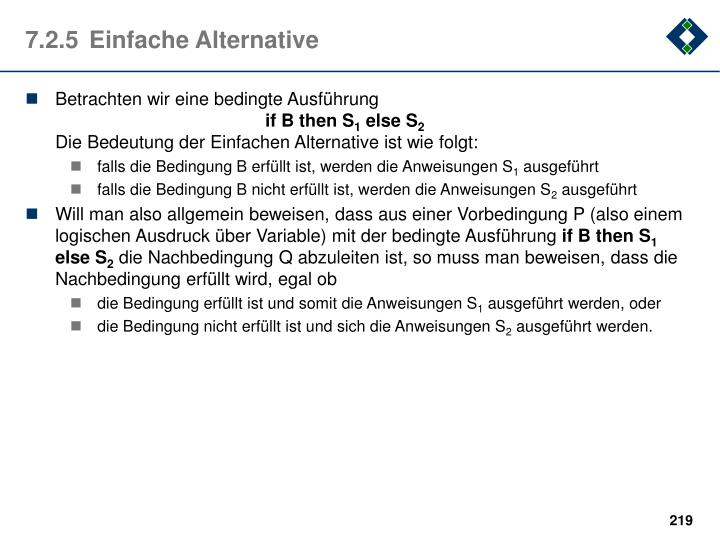7.2.5	Einfache Alternative