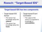 roesch target based ids