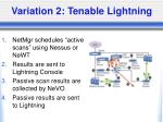 variation 2 tenable lightning