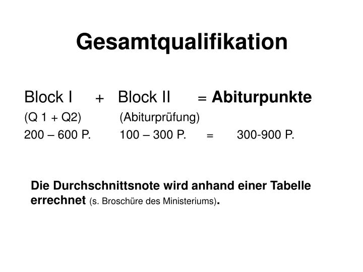 Gesamtqualifikation