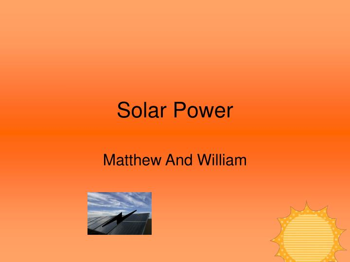 solar power n.