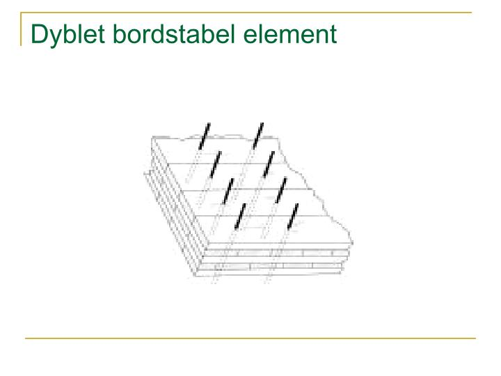 Dyblet bordstabel element