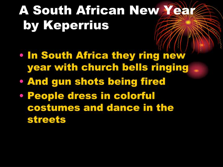 A South African New Year