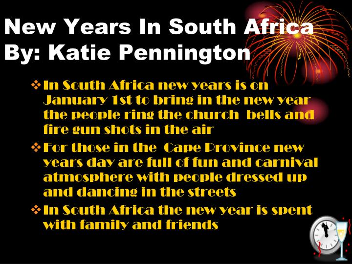 New Years In South Africa
