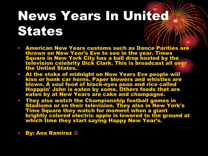 News Years In United States