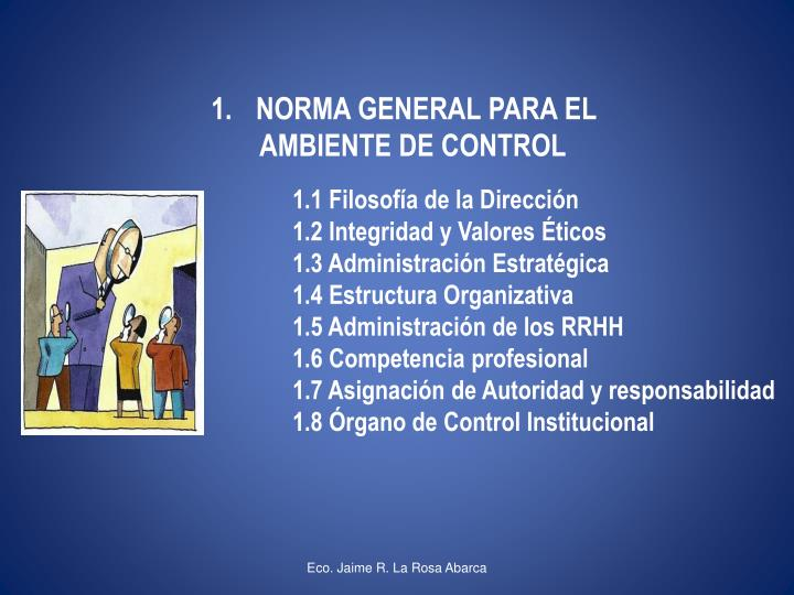 NORMA GENERAL PARA EL