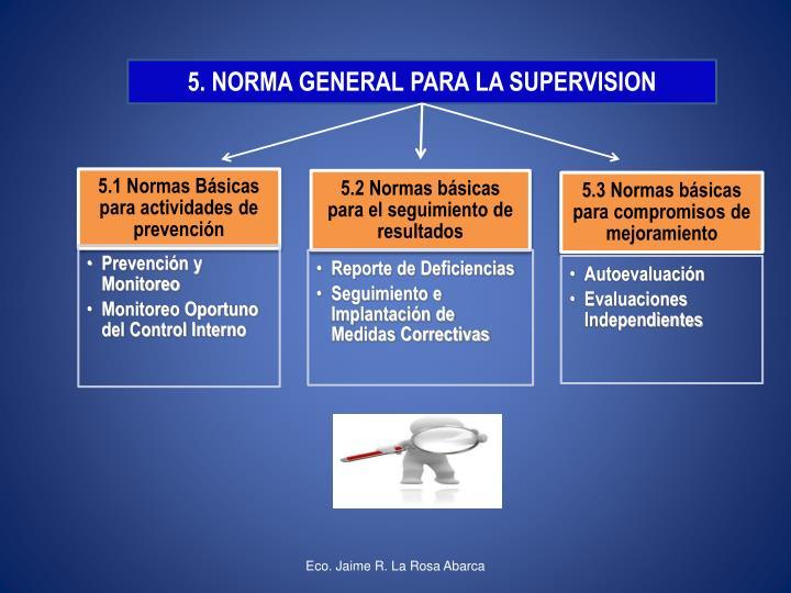 5. NORMA GENERAL PARA LA SUPERVISION