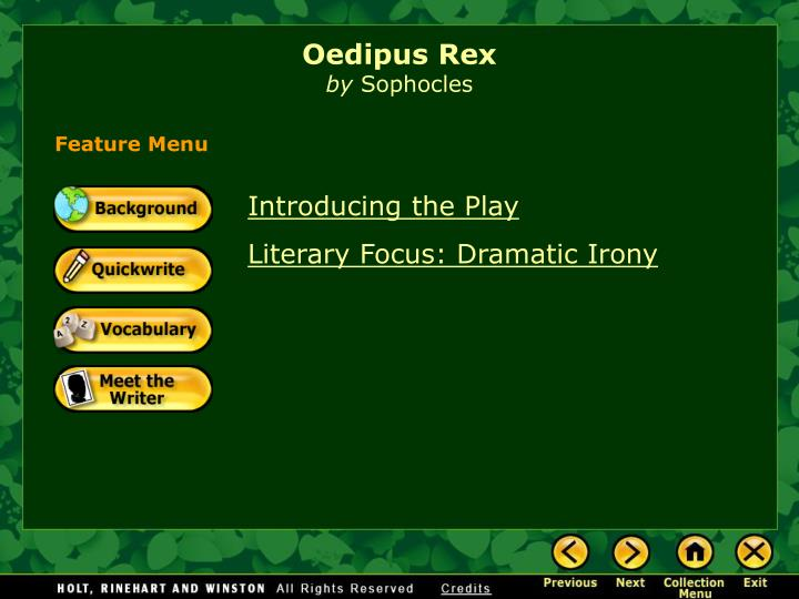 use of irony in oedipus rex