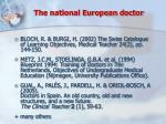the national european doctor