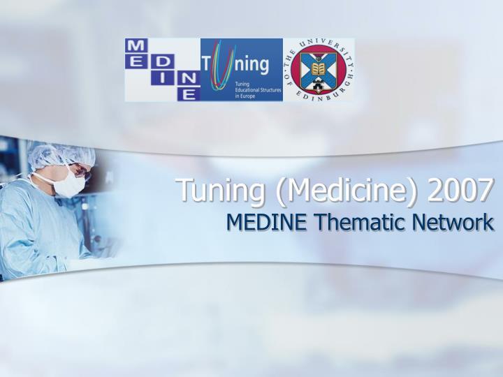 tuning medicine 2007 n.