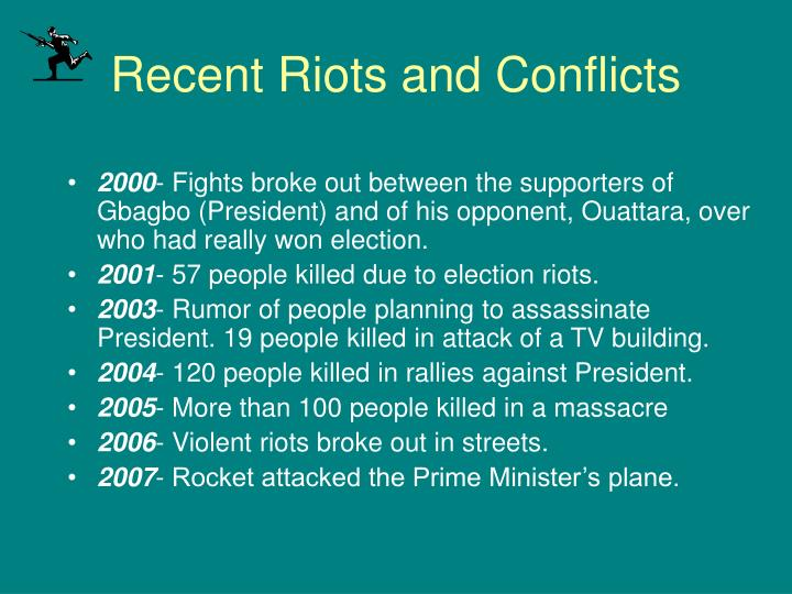 Recent Riots and Conflicts