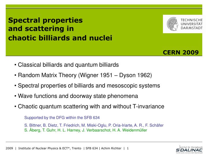 PPT - Spectral properties and scattering in chaotic billiards and