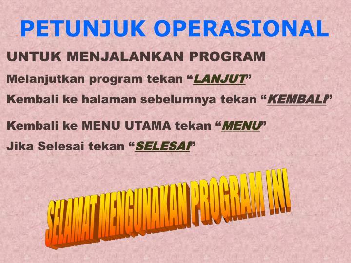 Petunjuk operasional