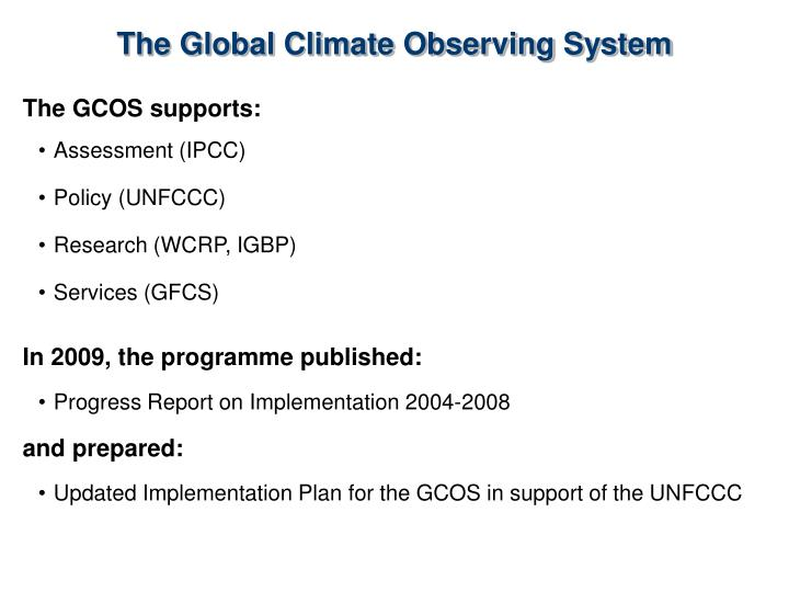 The Global Climate Observing System