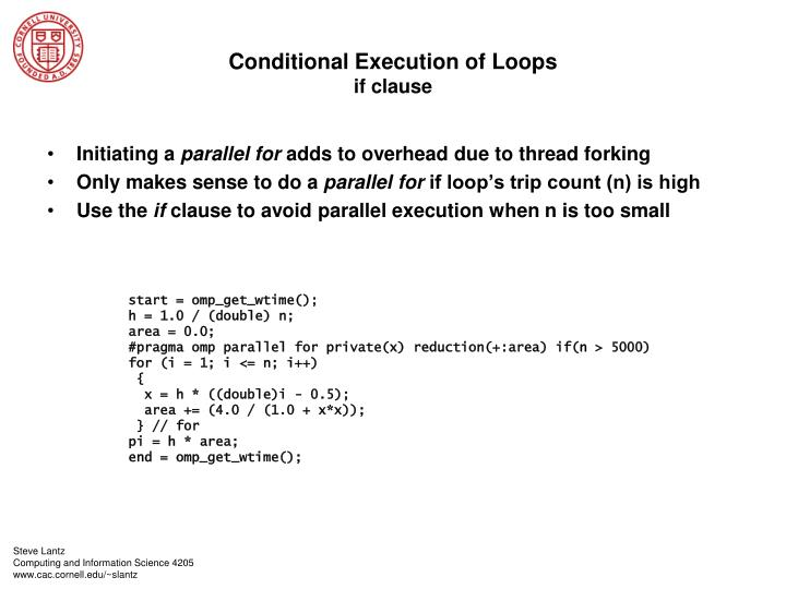 Conditional Execution of Loops