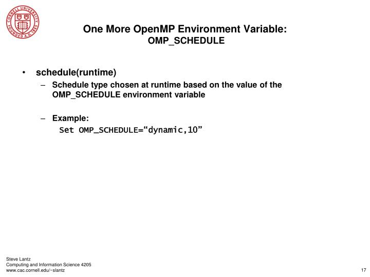One More OpenMP Environment Variable: