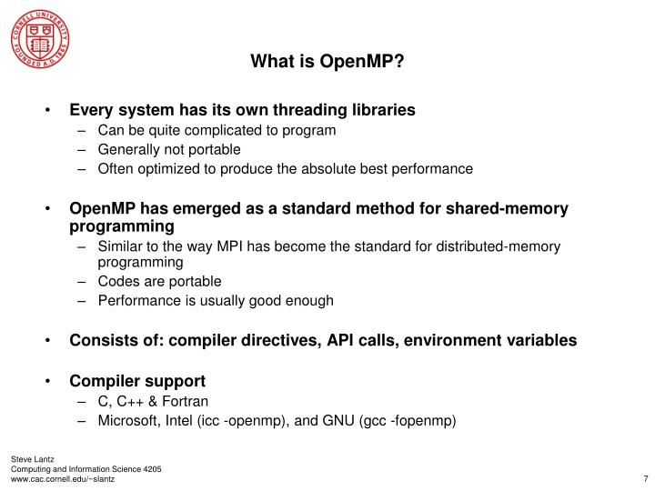 What is OpenMP?