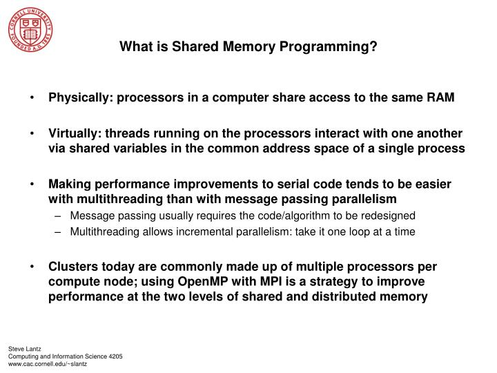What is Shared Memory Programming?