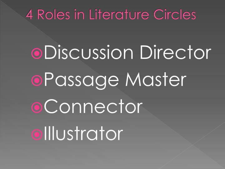 4 Roles in Literature Circles