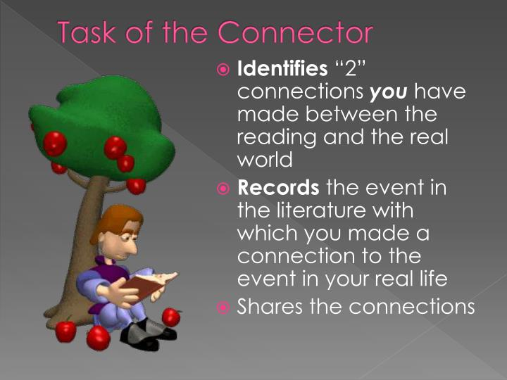 Task of the Connector