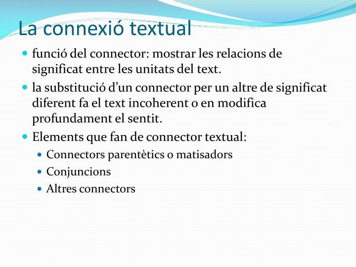 La connexió textual
