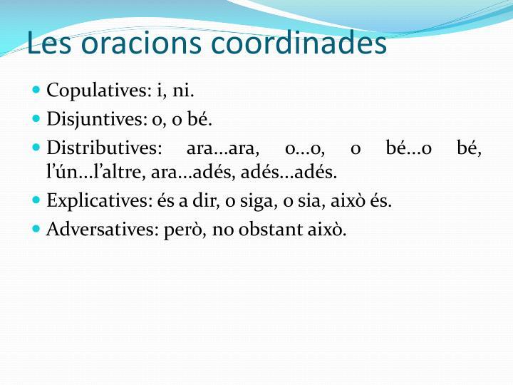 Les oracions coordinades