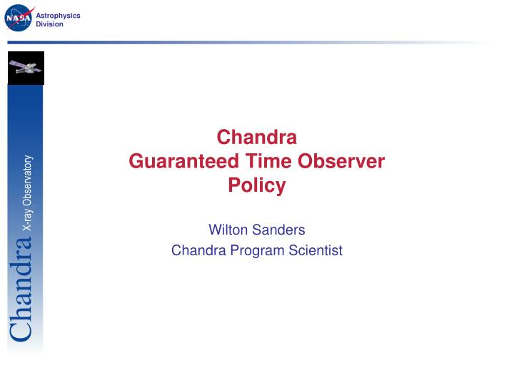 chandra guaranteed time observer policy n.
