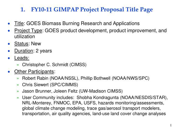 fy10 11 gimpap project proposal title page n.