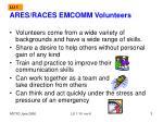 ares races emcomm volunteers
