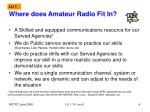 where does amateur radio fit in