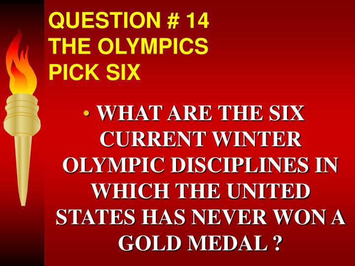 QUESTION # 14