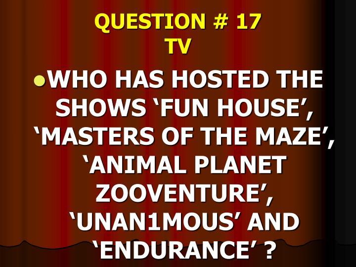 QUESTION # 17