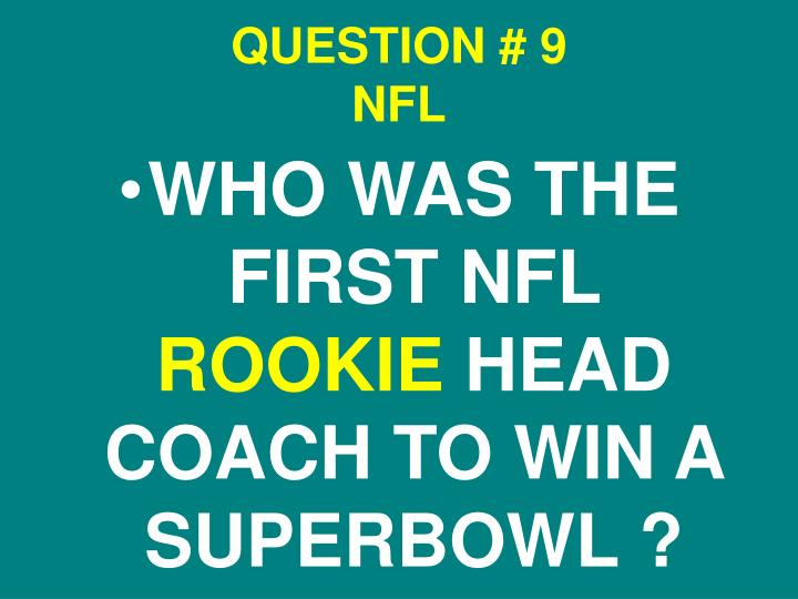 QUESTION # 9