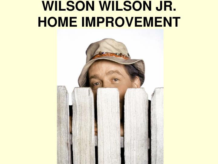 WILSON WILSON JR.