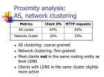 proximity analysis as network clustering