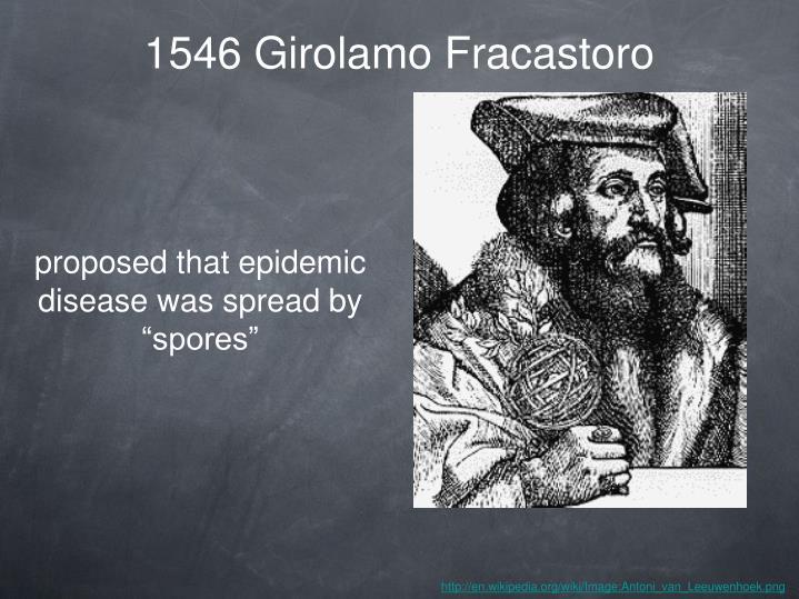 1546 Girolamo Fracastoro