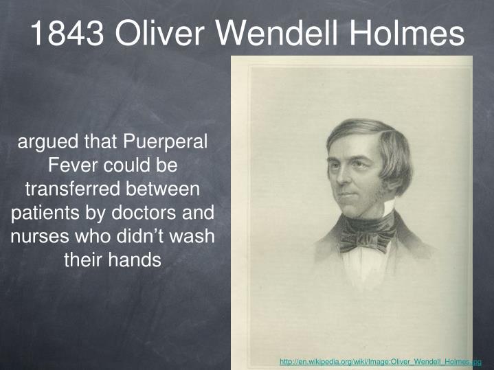 1843 Oliver Wendell Holmes
