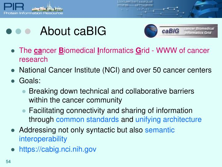 About caBIG