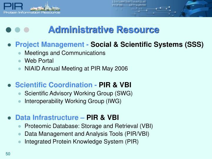 Administrative Resource